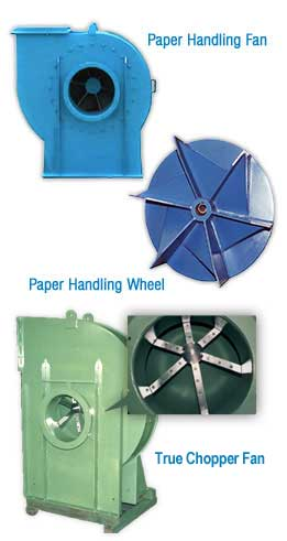 Paper Handling Fan and Wheel